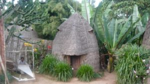 Dorze tribe house in Chencha village, Arba Minch, South Ethiopia