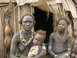 Dassanetch tribe women in Omo Valley, Galeb tribe, South Ethiopia