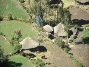 village in Simien National Park, Simien Mountains, North Ethiopia