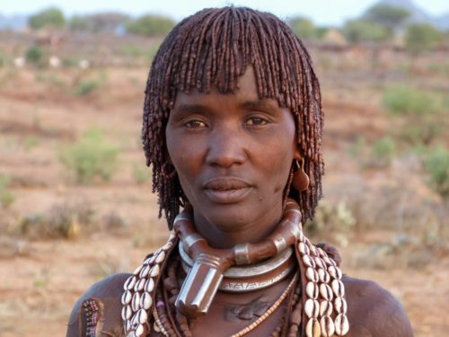 Hamar tribe woman Omo Valley, South Ethiopia