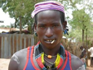Hamar tribe man in Omo Valley, Turmi Market, South Ethiopia
