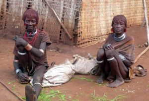 Hamar tribes old women Omo Valley, South Ethiopia