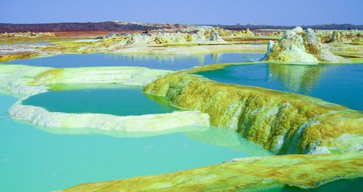 Dallol volcano in Danakil Depression, Ethiopia