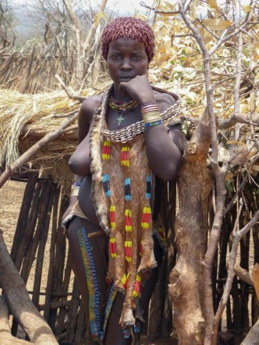Hamar tribe woman, Omo Valley, South Ethiopia