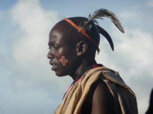 Karo tribe man, Omo Valley, South Ethiopia