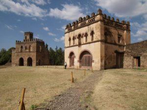 Vue intérieure de la cité impériale de Gondar, Camelot de l'Afrique, Ethiopie