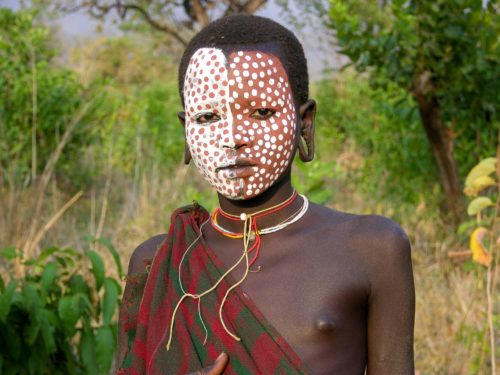 Surma boy in Omo National Park, South West Ethiopia