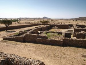 Queen Sheba palace ruins in Axoum, North Ethiopia