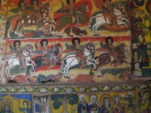 painting in Ura Kidane Meret Monastery, Lake Tana, Bahir Dar, North Ethiopia