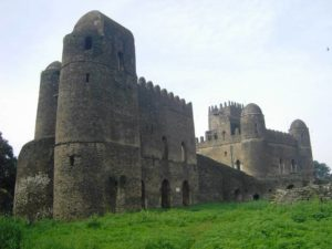 View from outside Royal compound, Camelot of Africa, in Gondar, North Ethiopia