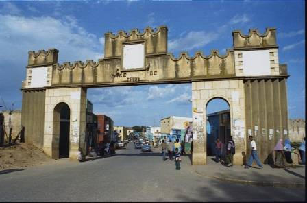 Harar town city entrance, East Ethiopia