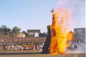 Meskal Orthodox church festival, Ethiopia