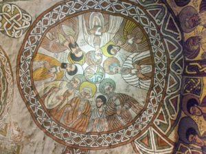 Fresque de l'église Abuna Yemata à Hawzien dans le Tigré, Ethiopie