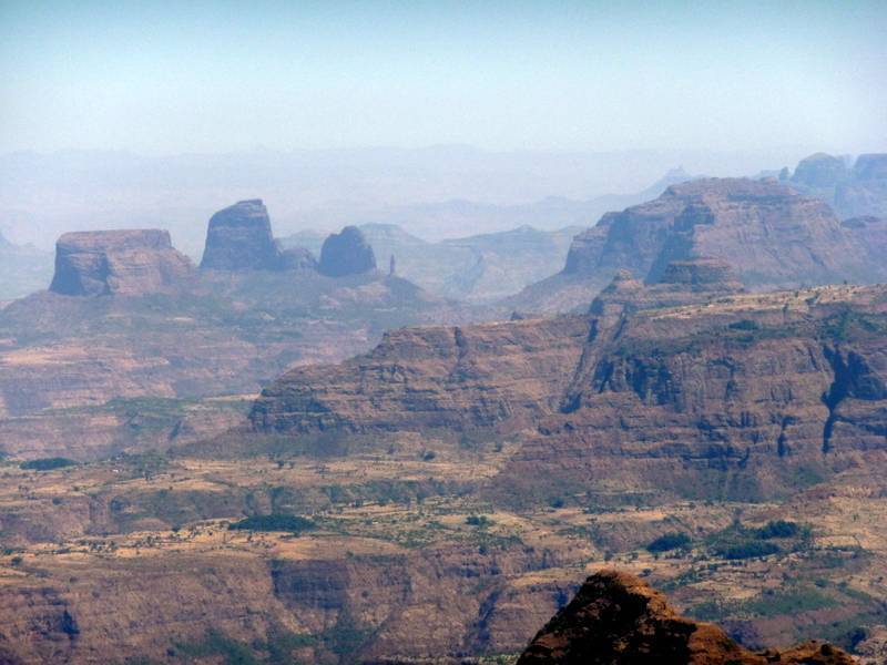 North Ethiopia mountain scenery