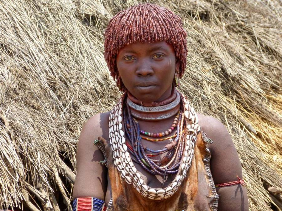 Hamar tribe young woman, Omo Valley, South Ethiopia