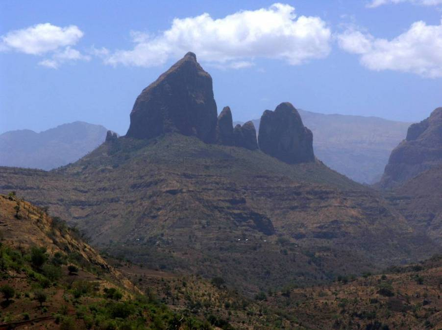 Panorama des monts Simien, Ethiopie