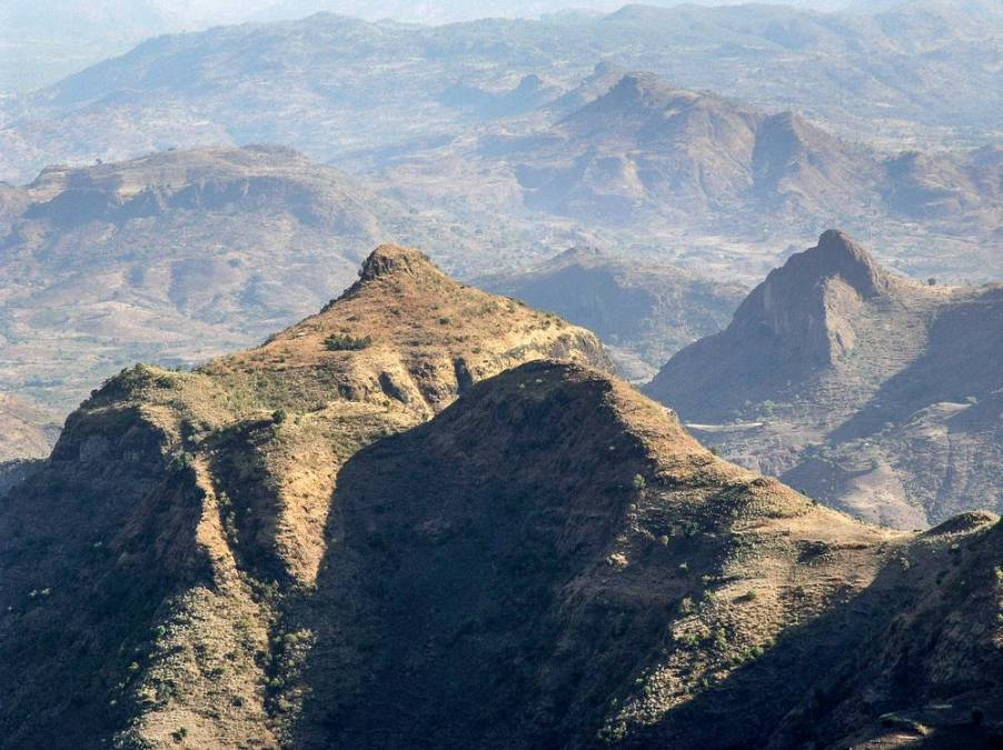 landscape in Simien Mountains, North Ethiopia