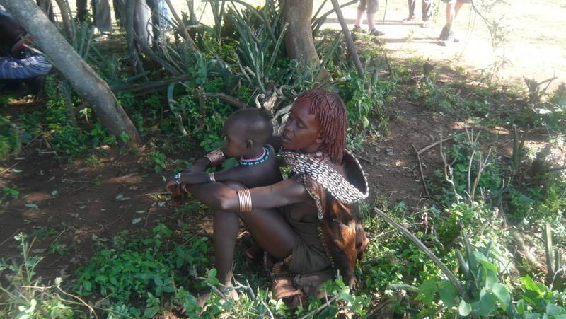 Hamar tribe mother and child, Omo Valley, South Ethiopia