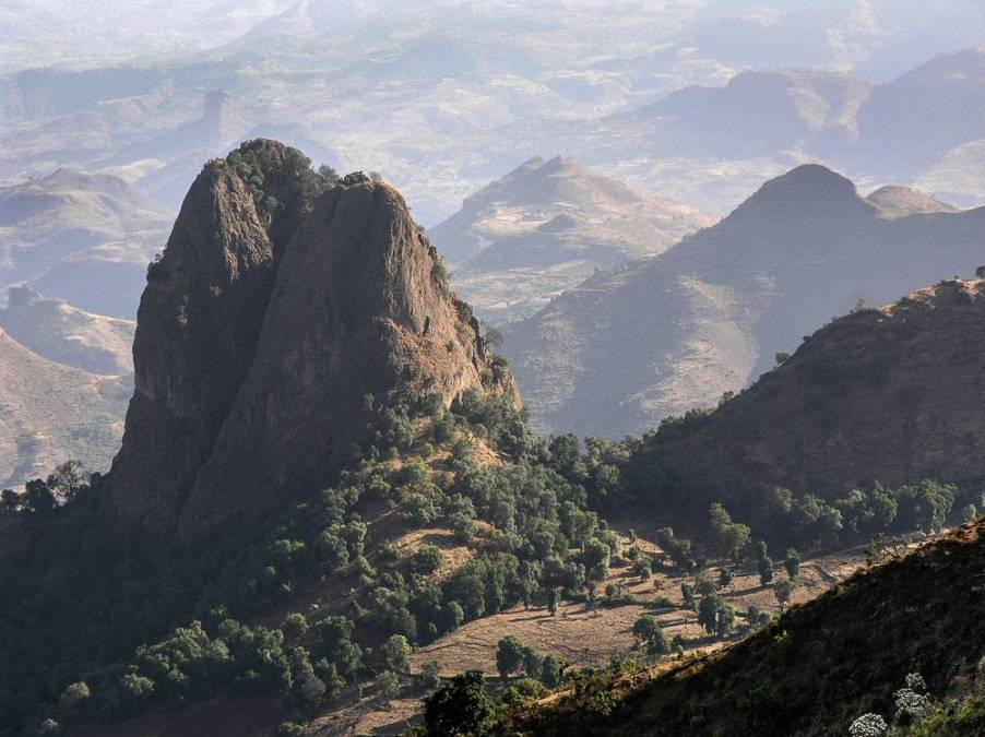 Mountain landscape in North Ethiopia