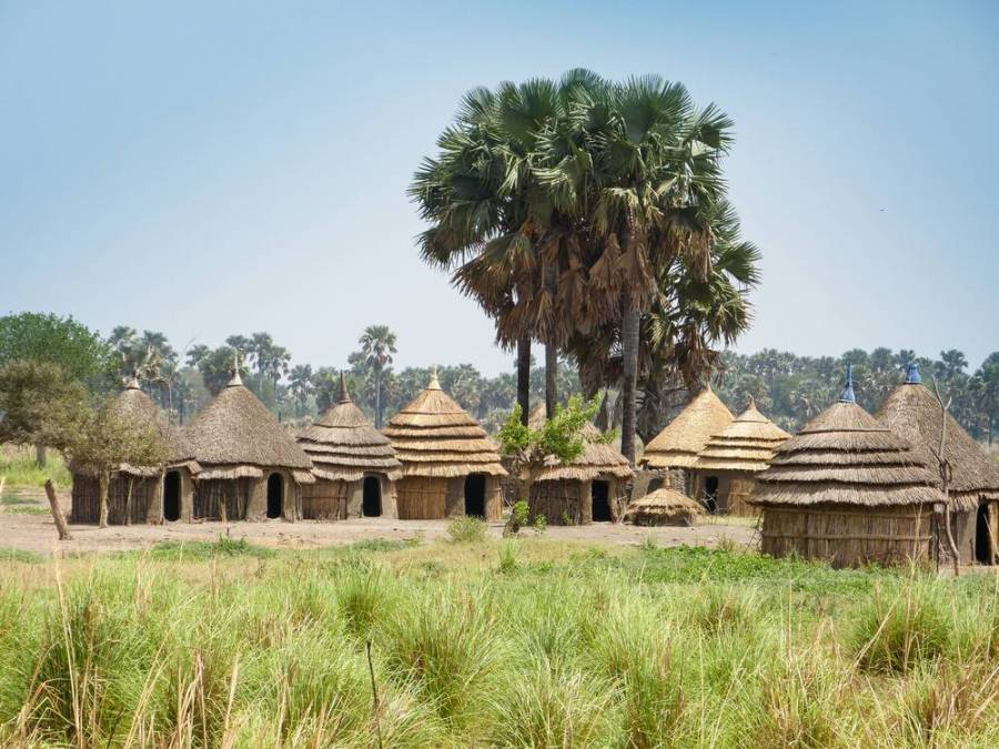 Surma village in Omo Valley, Ethiopia