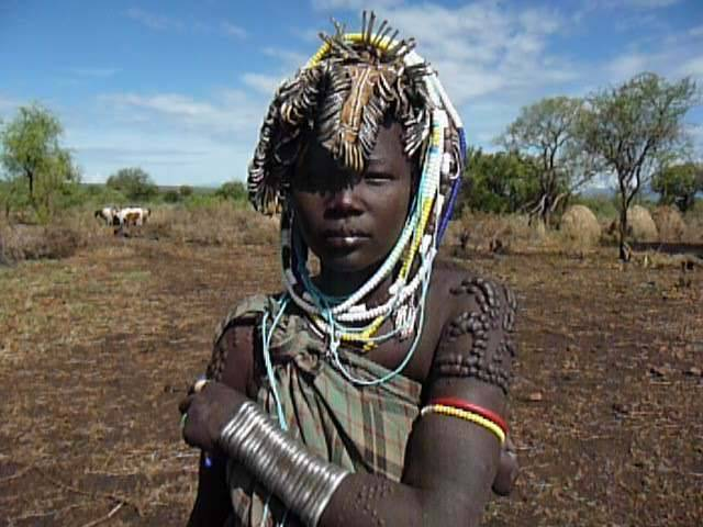 Dassanech tribe young woman, Omo Valley, South Ethiopia