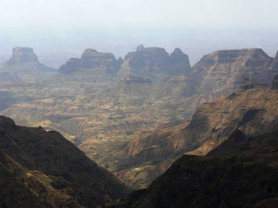 North Ethiopia scenery in Simien Mountains