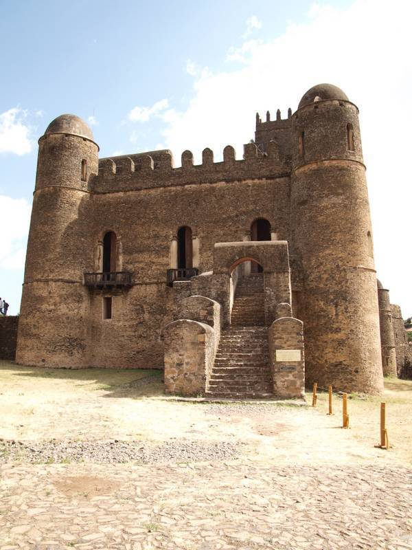 Royal compound Fasiladas palace, Camelot of Africa, in Gondar, North Ethiopia