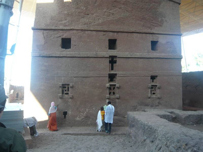 Rock hewn church Bet Maryam in Lalibela, Ethiopia