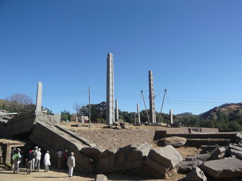 Stelaes field Obelisk in Axum, North Ethiopia