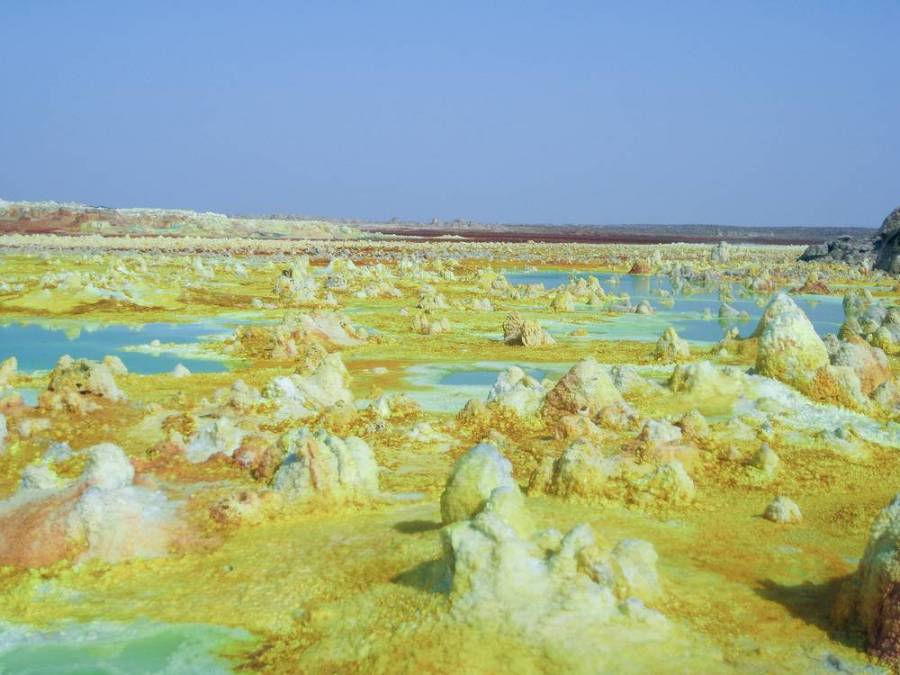 Dallol volcano in Danakil Depression, East Ethiopia